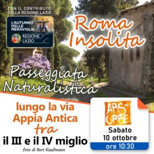 roma insolita, roma, visita guidata, appia antica