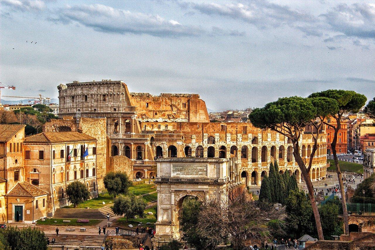 colosseum, rome, city